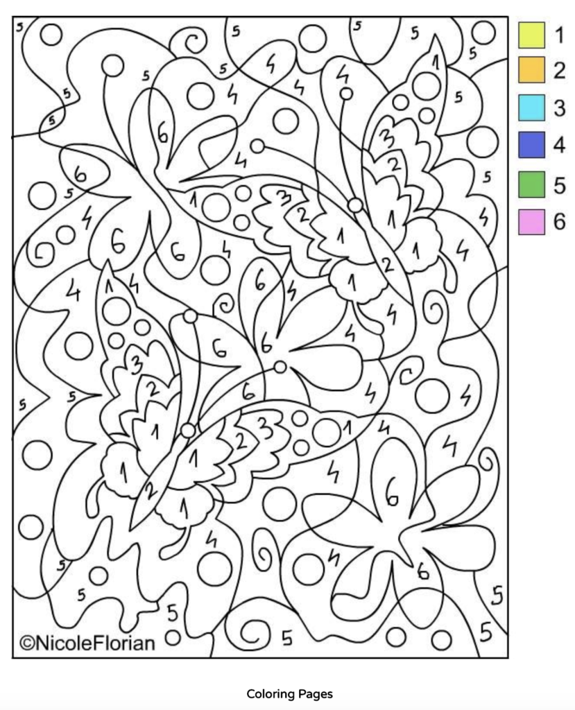 10 Free Printable Paint By Numbers For Adults Paint By Numbers Pro